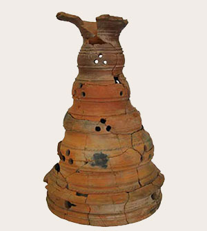Cylindrical pottery stand